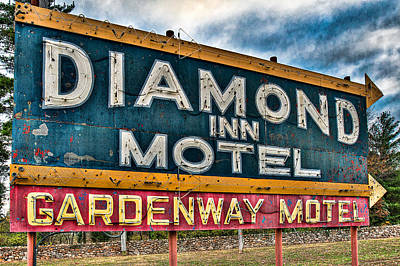 Diamond Inn Motel Sign Art Print by Robert  FERD Frank