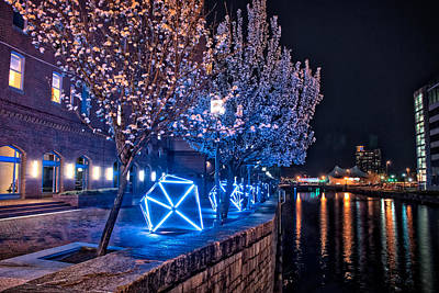 Photograph - Diamond Lights Walkway by Mark Dodd