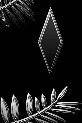 Digital Art - Diamond Metallic Leaves by Aimee L Maher Photography and Art Visit ALMGallerydotcom