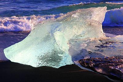 Photograph - Diamond On Diamond Beach Black Sand Waves Iceland 2 2112018 1962.jpg by David Frederick