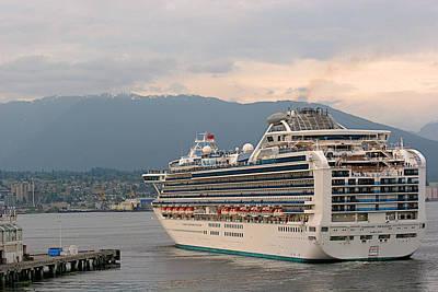 Diamond Princess Leaving Vancouver British Columbia Canada Art Print