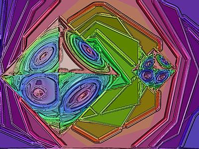 Diamond Rainbow Art Print by Patrick Guidato