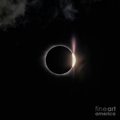 Photograph - Diamond Ring And Flare 8-21-2017 by Charles Hite