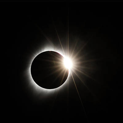 Solar Eclipse Photograph - Diamond Ring by Angie Vogel