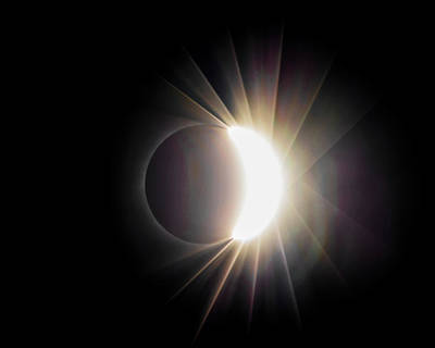 Photograph - Diamond Ring With Flare During Solar Eclipse by Lori Coleman