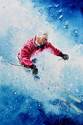 Downhill Skiing Painting - Diamond Run by Hanne Lore Koehler