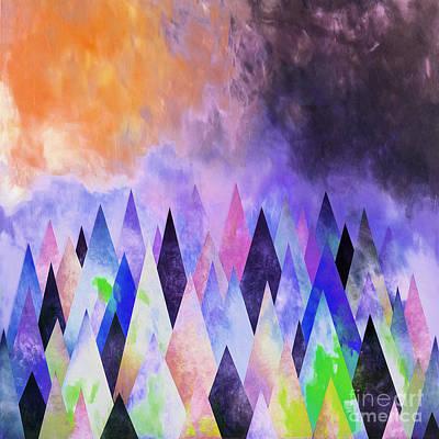 Tribal Art Painting - Diamond Shape Patterns by Gull G