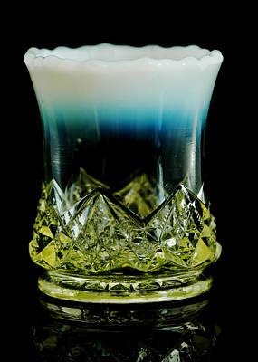 Vaseline Glass Photograph - Diamond Spearhead Toothpick Holder by Julie Mangano