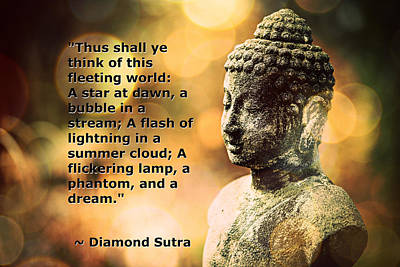 Photograph - Diamond Sutra Quotation Art by Aurelio Zucco