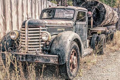 Photograph - Diamond T Logging Truck by Jean OKeeffe Macro Abundance Art