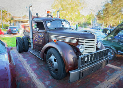 Photograph - Diamond T Tow Truck C188 by Rich Franco