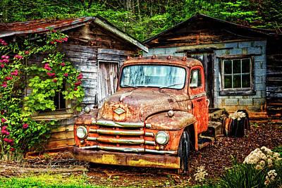 Photograph - Diamond T Vintage Truck by Debra and Dave Vanderlaan