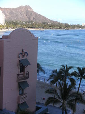 Diamondhead Photograph - Diamondhead From The Royal Hawaiian - Vertical by Grant Wiscour
