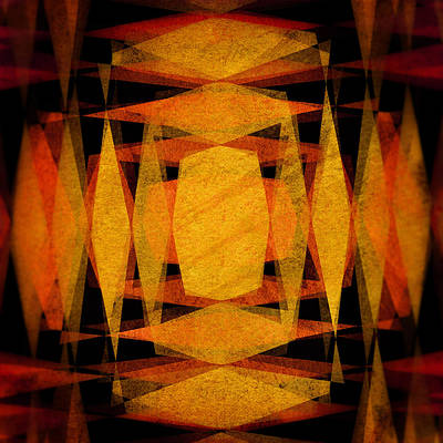 Digital Art - Diamonds 6 by Steve Ball