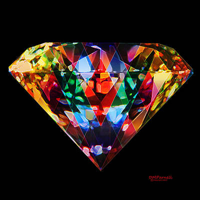 Cubic Zirconia Digital Art - Diamonds Everywhere by Diane Parnell