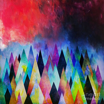 Contemporary Tribal Art Painting - Diamonds Pattern Art 01 by Gull G