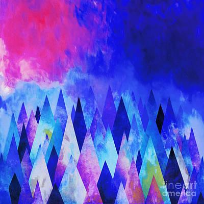Tribal Art Painting - Diamonds Pattern by Gull G