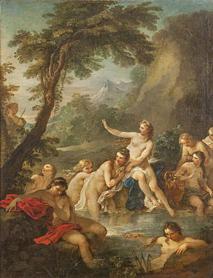 Painting - Diana And Actaeon by Charles-Joseph Natoire