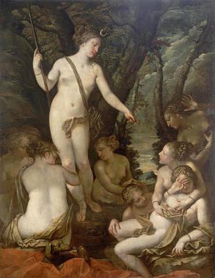 Painting - Diana And Callisto 2 by Pietro Liberi