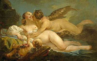 Painting - Diana And Callisto by Jean-Baptiste Marie Pierre