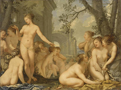 Painting - Diana And Callisto by Pietro Liberi