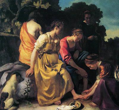 Jan Vermeer Painting - Diana And Her Companions by Jan Vermeer