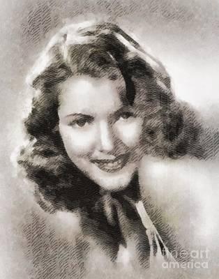 Diana Barrymore, Actress Art Print by John Springfield