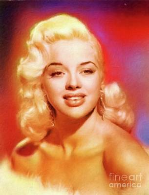 Dor Painting - Diana Dors by Mary Bassett
