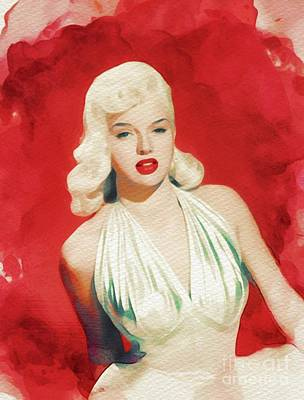 Dor Wall Art - Painting - Diana Dors, Movie Legend And Pinup by John Springfield