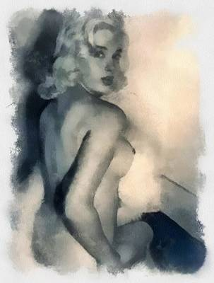 Dor Wall Art - Painting - Diana Dors Pinup by Esoterica Art Agency