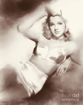 Dor Wall Art - Digital Art - Diana Dors, Vintage Actress by John Springfield