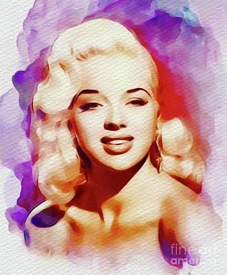 Dor Wall Art - Painting - Diana Dors, Vintage Movie Star by John Springfield