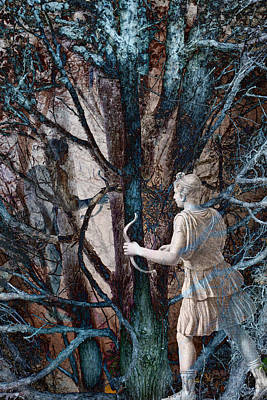 Archer Digital Art - Diana In The Magic Forest by Antique Images