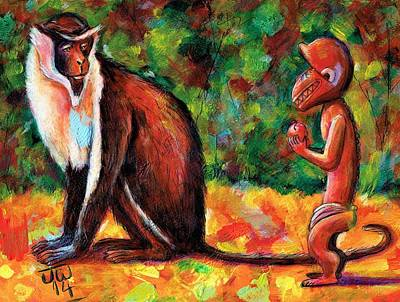 Painting - Diana Monkey by June Walker