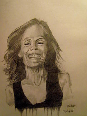 Laugh Painting - Diana by Ray Agius