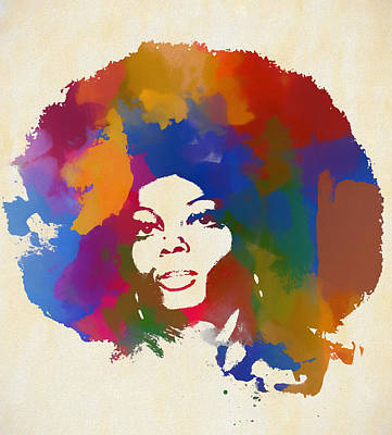 Painting - Diana Ross by Dan Sproul