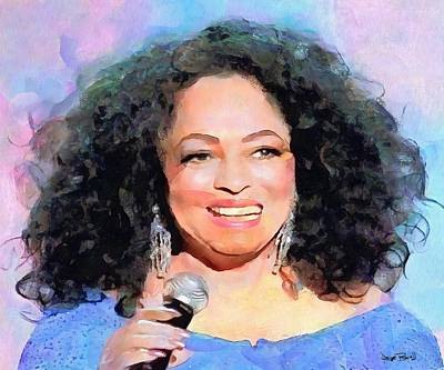 Painting - Diana Ross by Wayne Pascall