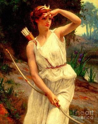 Diana The Huntress Guillaume Seignac  Art Print