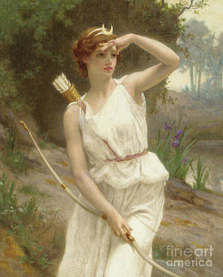 Artemis Wall Art - Painting - Diana, The Huntress by Guillaume Seignac
