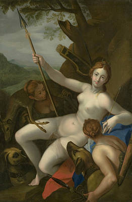 Painting - Diana With Nymphs, Dogs And Game by Hans von Aachen