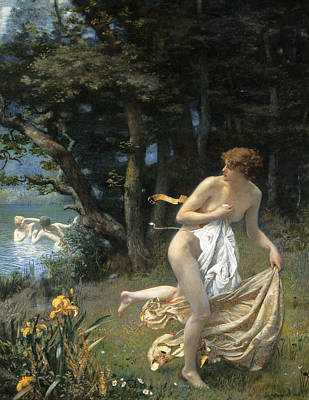 Painting - Diana's Maidens by Edward Robert Hughes
