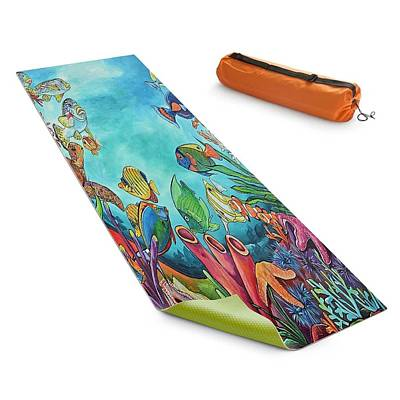 Painting - Dianochedesigns Yoga Mat by Patti Schermerhorn