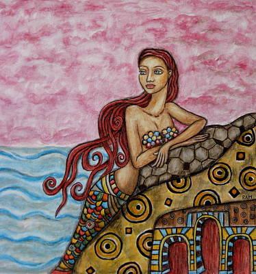 Rain Ririn Painting - Diantha by Rain Ririn