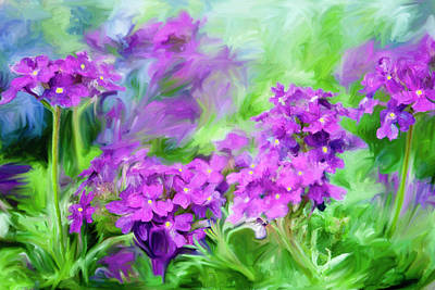 Painting - Dianthus Flowers by Frank Tschakert