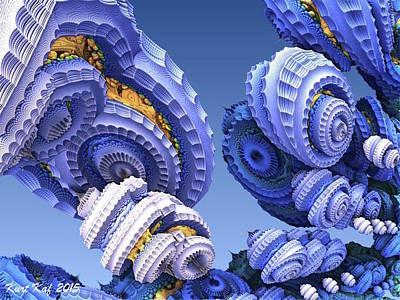 Diatoms Digital Art - Diatom City 2 by Kurt Kaf