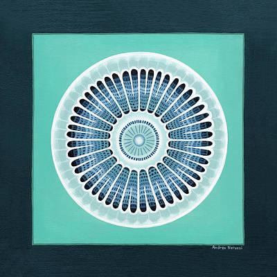 Diatom Painting - Diatom Mandala, Arachnoidiscus by Andrea Nerozzi