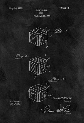 Drawing - Dice Cube Patent by Dan Sproul
