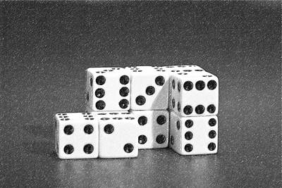 Board Game Photograph - Dice Cubes II by Tom Mc Nemar