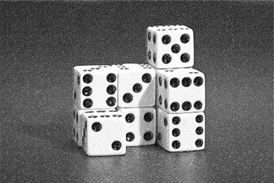 Board Game Photograph - Dice Cubes IIi by Tom Mc Nemar