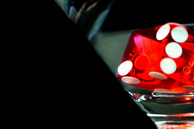 Dice Photograph - Dice Glass by Shane Rees